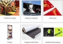 materiály pro velkoformátový tisk